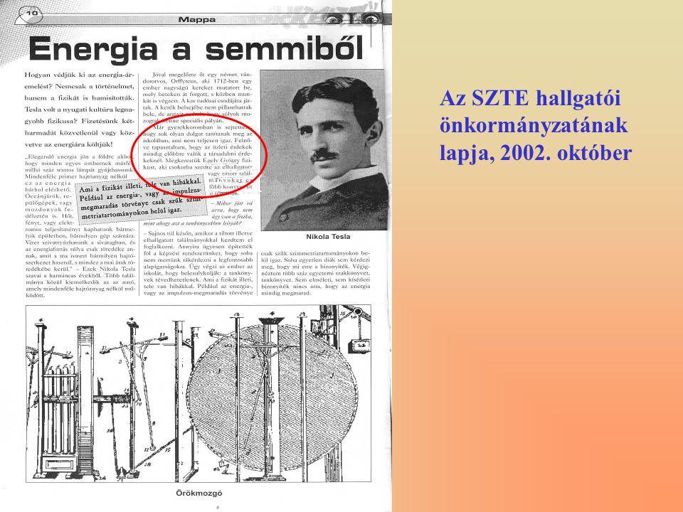 Az SZTE hallgatói önkormányzatának lapja, 2002. október