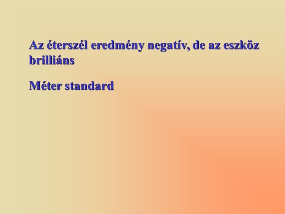 Az éterszél eredmény negatív, de az eszköz brilliáns Méter standard