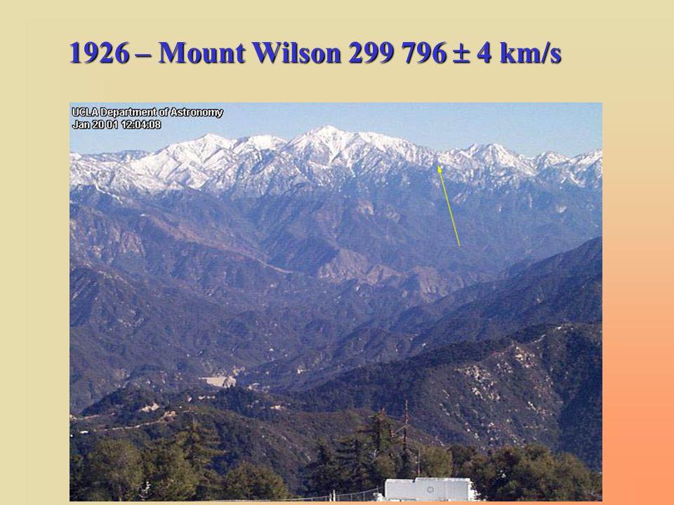 1926 – Mount Wilson 299 796  4 km/s