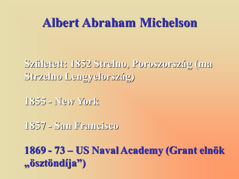 Albert Abraham Michelson 1875 – science instructor Annapolisban