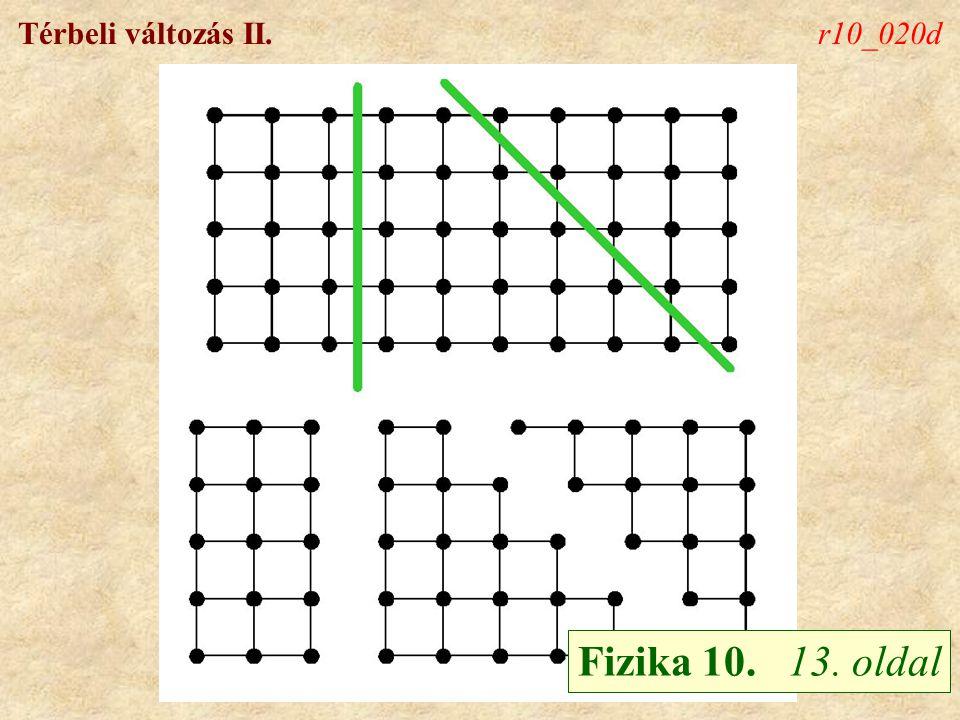 Térbeli változás II.r10_020d Fizika 10. 13. oldal