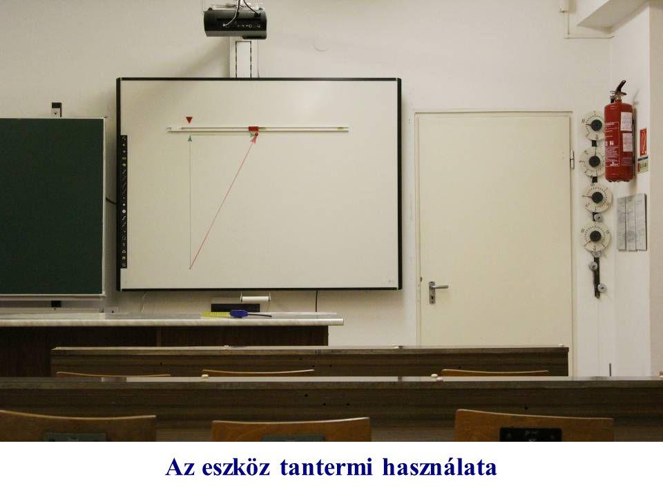 Az eszköz tantermi használata