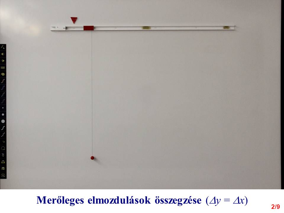 2/9 Merőleges elmozdulások összegzése (  y =  x)