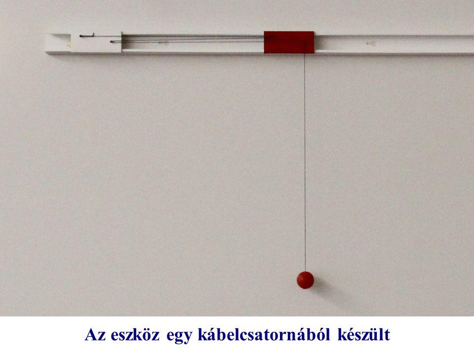 Az eszköz egy kábelcsatornából készült