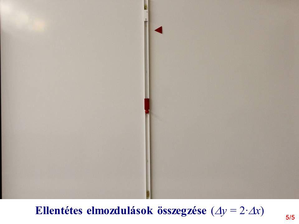 Ellentétes elmozdulások összegzése (  y = 2·  x) 5/5