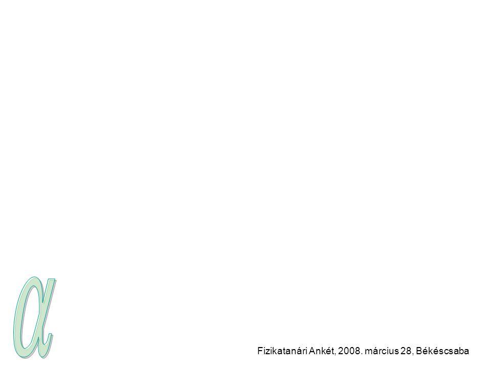 Fizikatanári Ankét, 2008. március 28, Békéscsaba