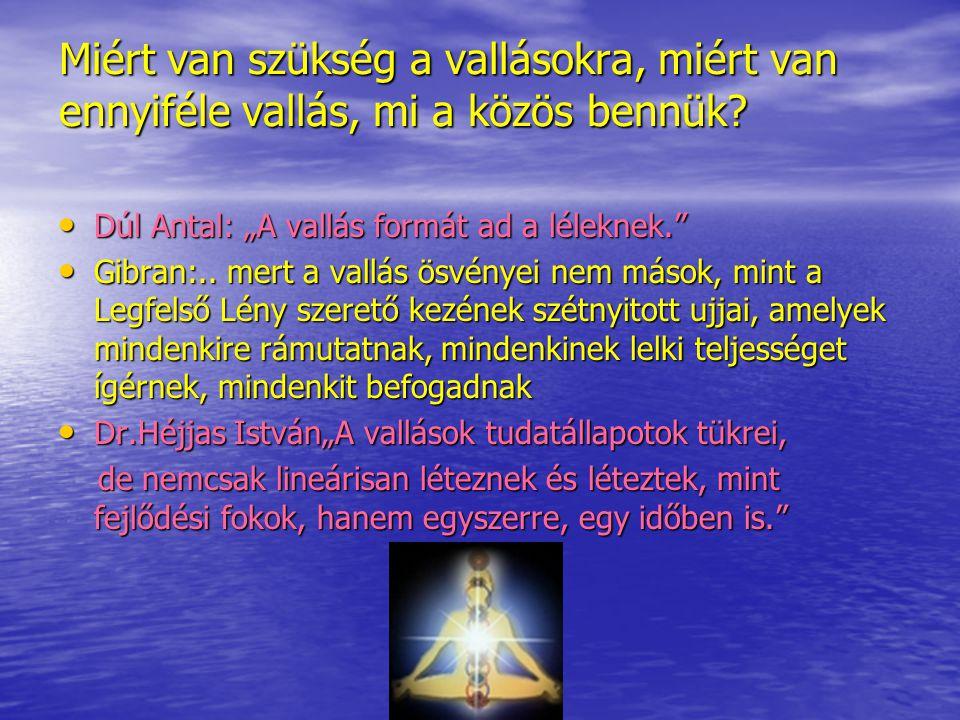 """Miért van szükség a vallásokra, miért van ennyiféle vallás, mi a közös bennük? Dúl Antal: """"A vallás formát ad a léleknek."""" Dúl Antal: """"A vallás formát"""