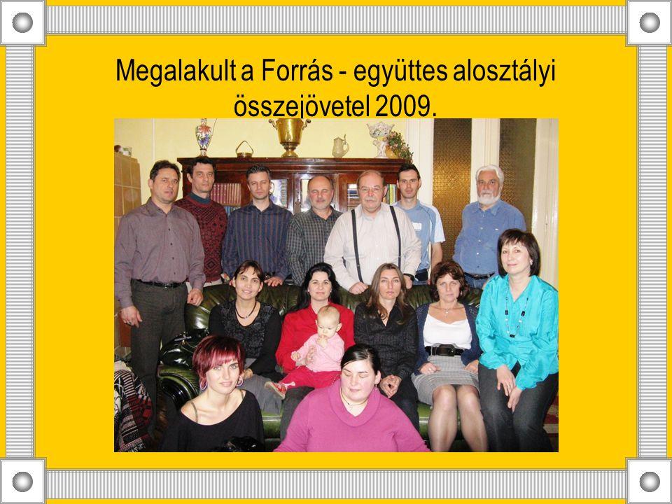 Megalakult a Forrás - együttes alosztályi összejövetel 2009.