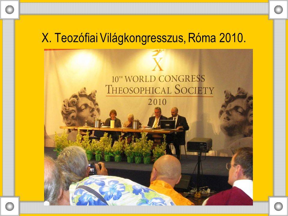 X. Teozófiai Világkongresszus, Róma 2010.