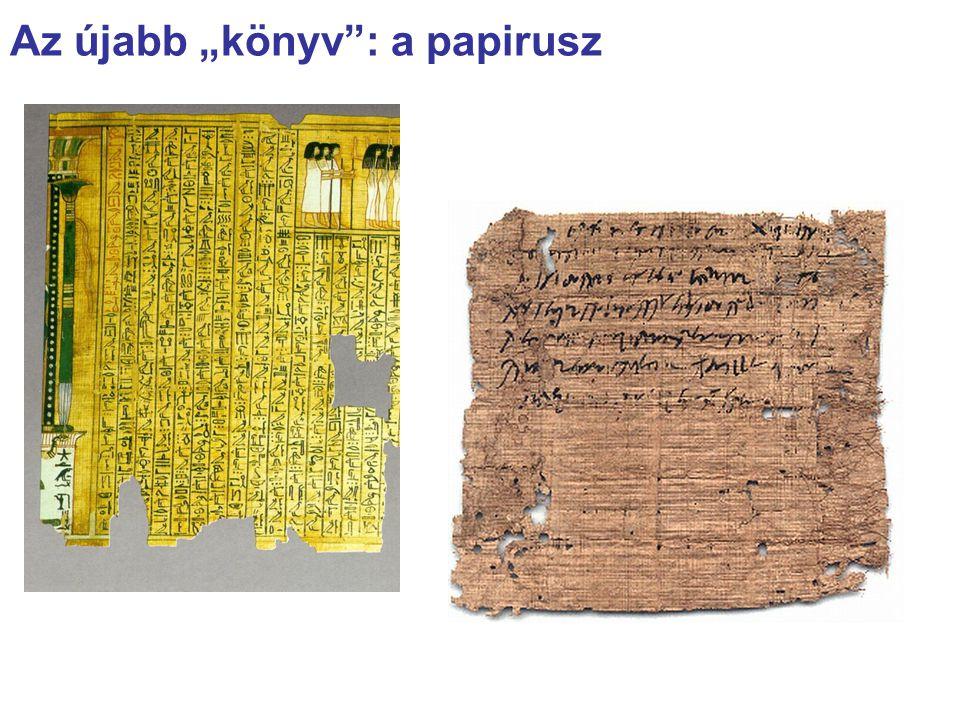 """Az újabb """"könyv : a papirusz"""