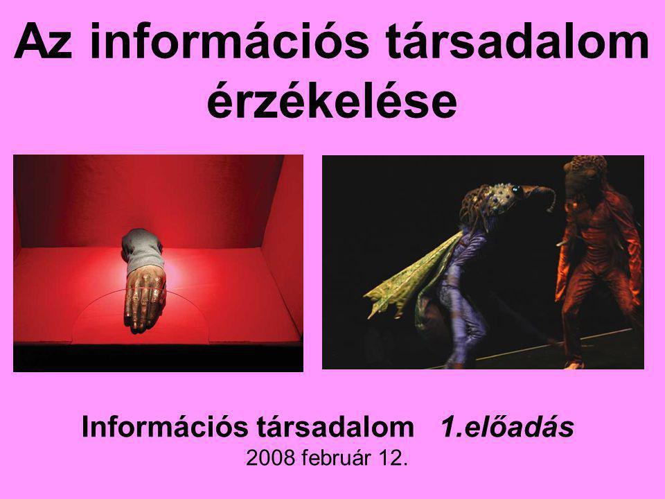 Az információs társadalom érzékelése Információs társadalom 1.előadás 2008 február 12.