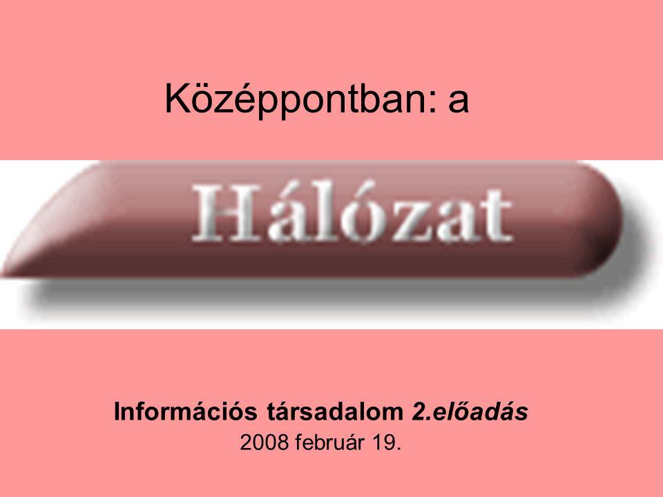 Középpontban: a Információs társadalom 2.előadás 2008 február 19.