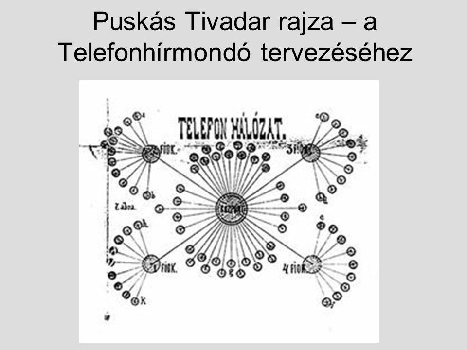 Puskás Tivadar rajza – a Telefonhírmondó tervezéséhez