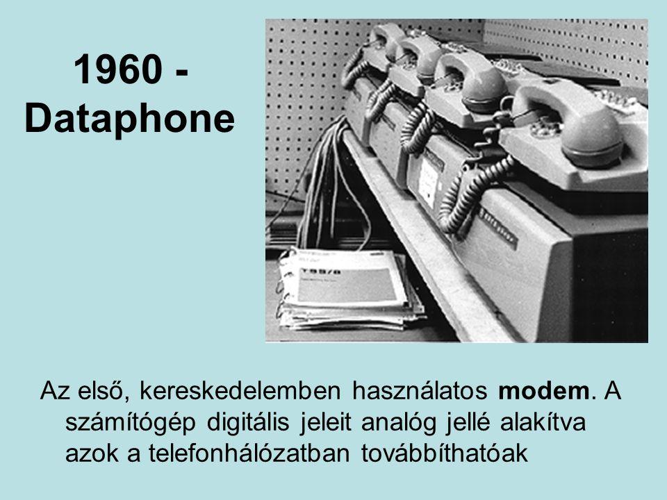 1960 - Dataphone Az első, kereskedelemben használatos modem.