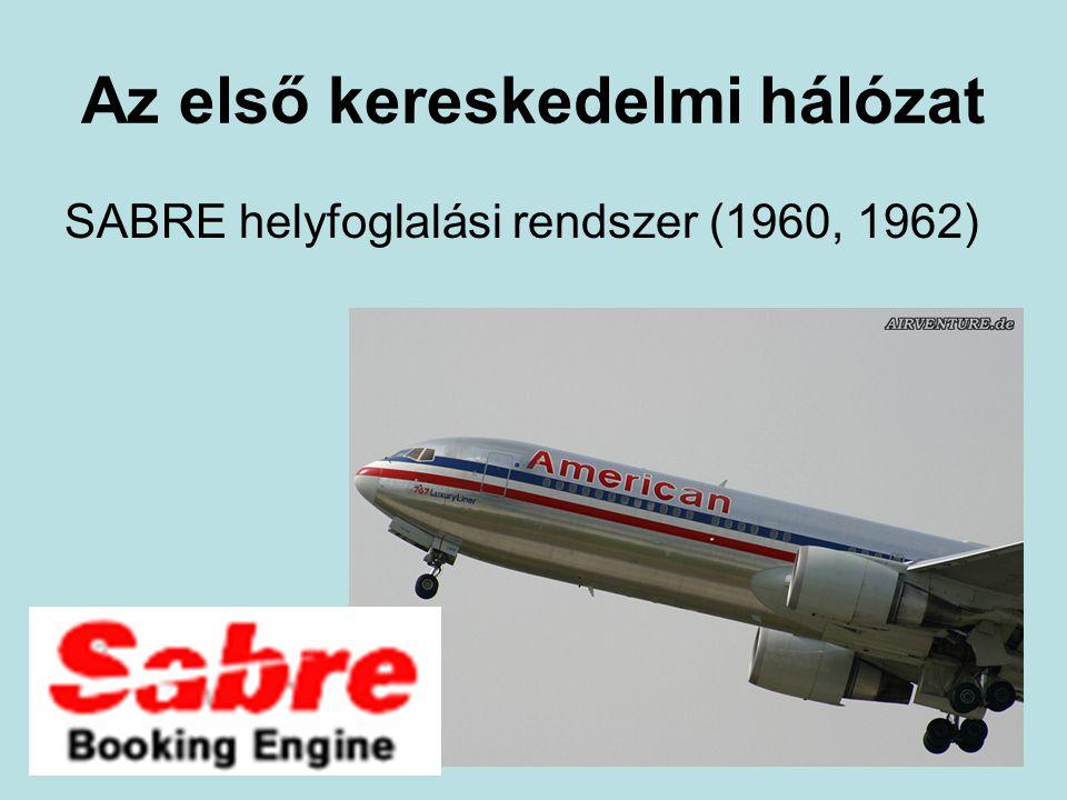 Az első kereskedelmi hálózat SABRE helyfoglalási rendszer (1960, 1962)