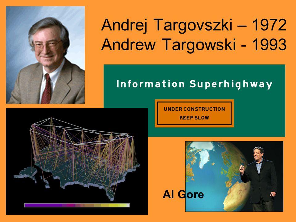 Andrej Targovszki – 1972 Andrew Targowski - 1993 Al Gore