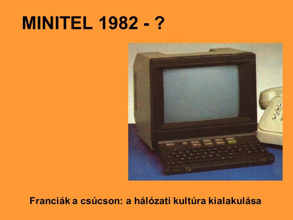 MINITEL 1982 - ? Franciák a csúcson: a hálózati kultúra kialakulása