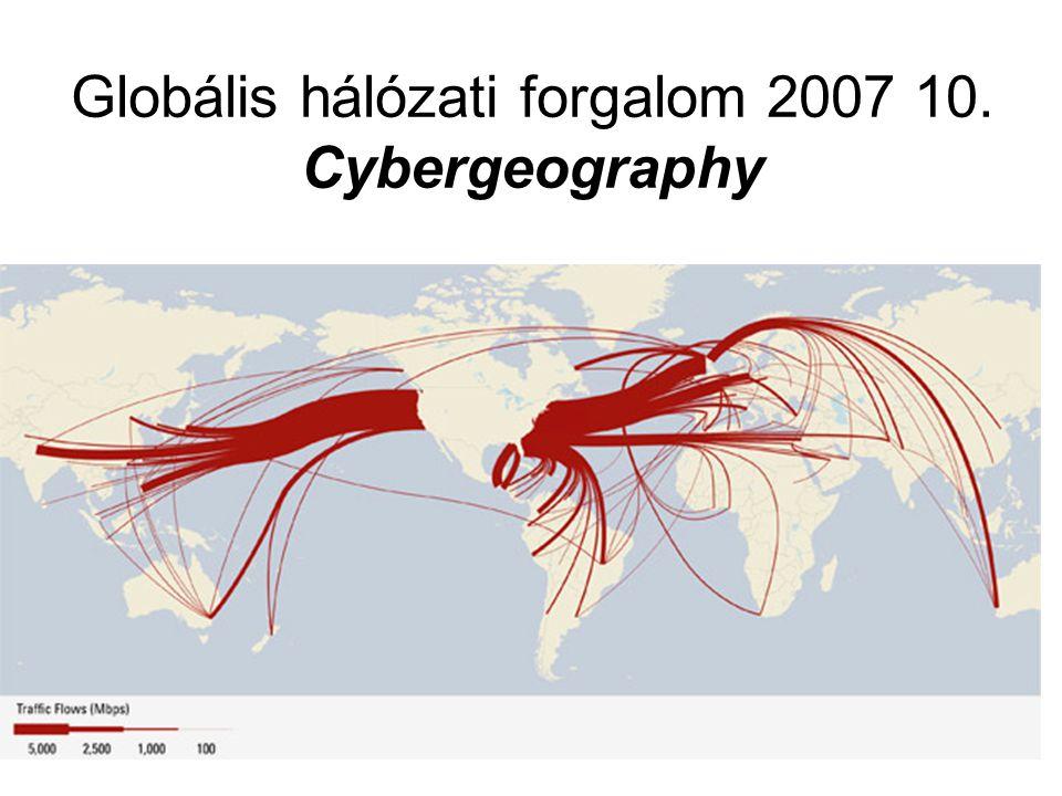 Globális hálózati forgalom 2007 10. Cybergeography