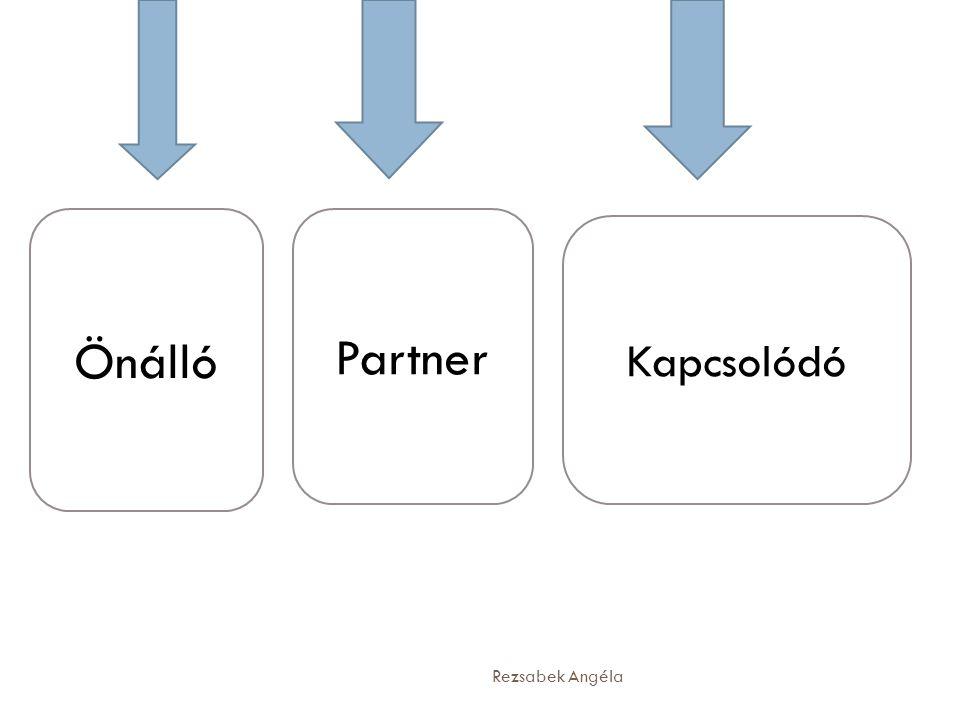 Önálló Kapcsolódó Partner Rezsabek Angéla