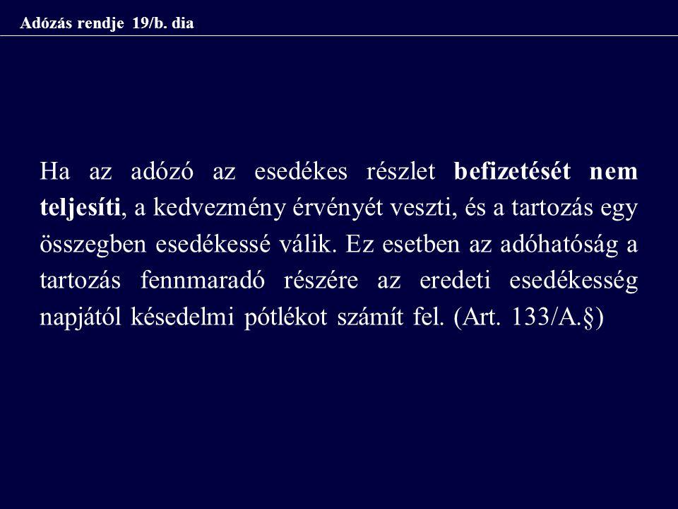 Adózás rendje 19/b.