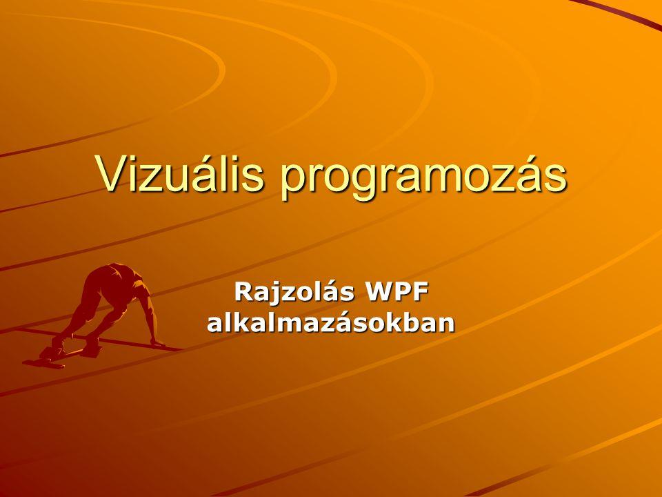 Vizuális programozás Rajzolás WPF alkalmazásokban