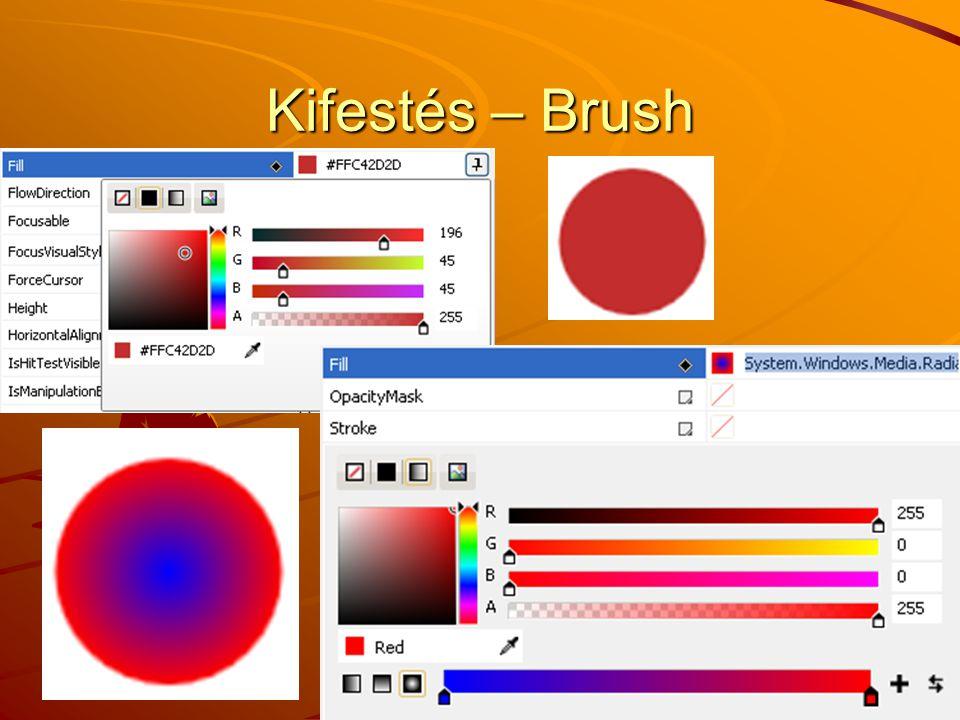 Kifestés – Brush J.Zs.Cs.: Vizuális programozás (c) 2012