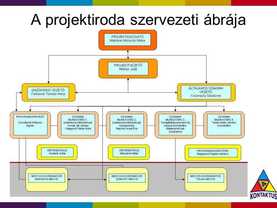 2014. 08. 06. A projektiroda szervezeti ábrája