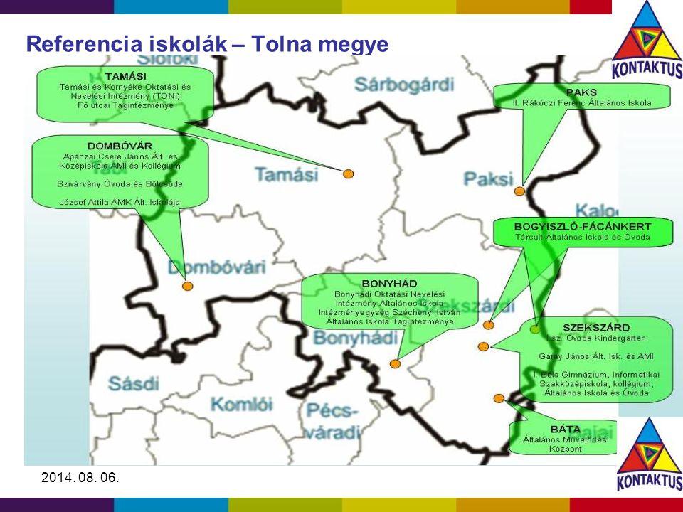 2014. 08. 06. Referencia iskolák – Tolna megye