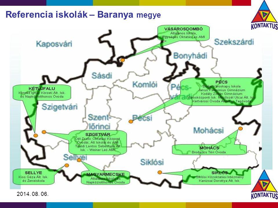 2014. 08. 06. Referencia iskolák – Baranya megye