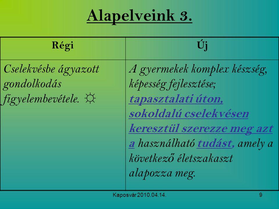 Kaposvár 2010.04.14.10 Alapelveink 4.