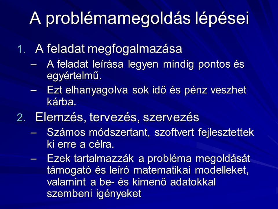 A problémamegoldás lépései 1.