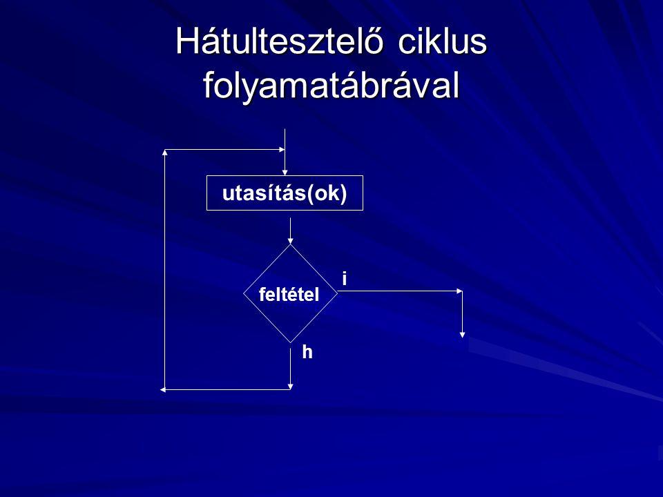 Hátultesztelő ciklus folyamatábrával feltétel utasítás(ok) i h
