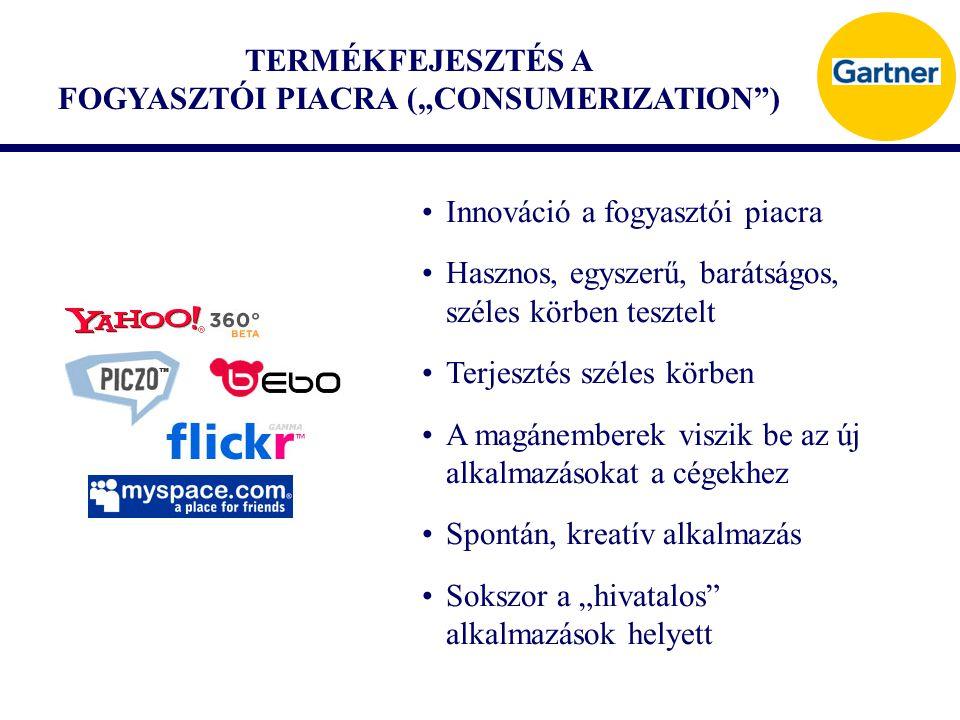 """TERMÉKFEJESZTÉS A FOGYASZTÓI PIACRA (""""CONSUMERIZATION"""") Innováció a fogyasztói piacra Hasznos, egyszerű, barátságos, széles körben tesztelt Terjesztés"""