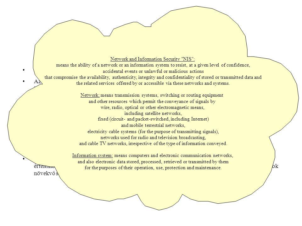 Definíciók Az információbiztonság a szervezeti értelemben vett biztonság megteremtésének eszköze. Az információbiztonság egyik maghatározó pillére az