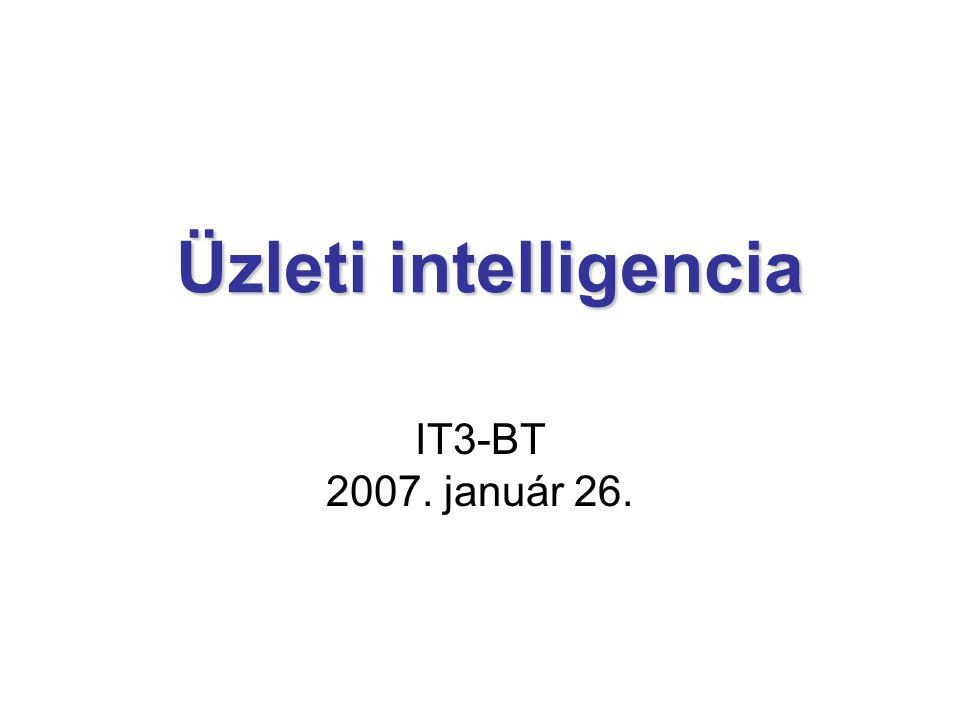 Üzleti intelligencia Üzleti intelligencia IT3-BT 2007. január 26.