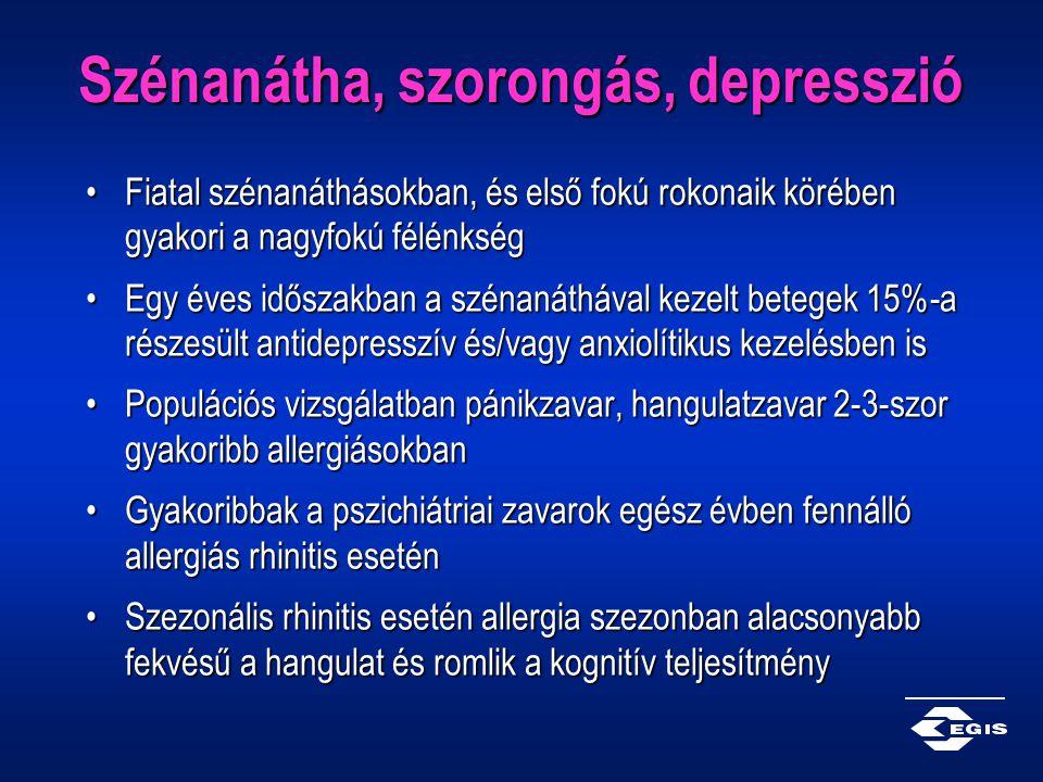 Szénanátha, szorongás, depresszió Fiatal szénanáthásokban, és első fokú rokonaik körében gyakori a nagyfokú félénkségFiatal szénanáthásokban, és első