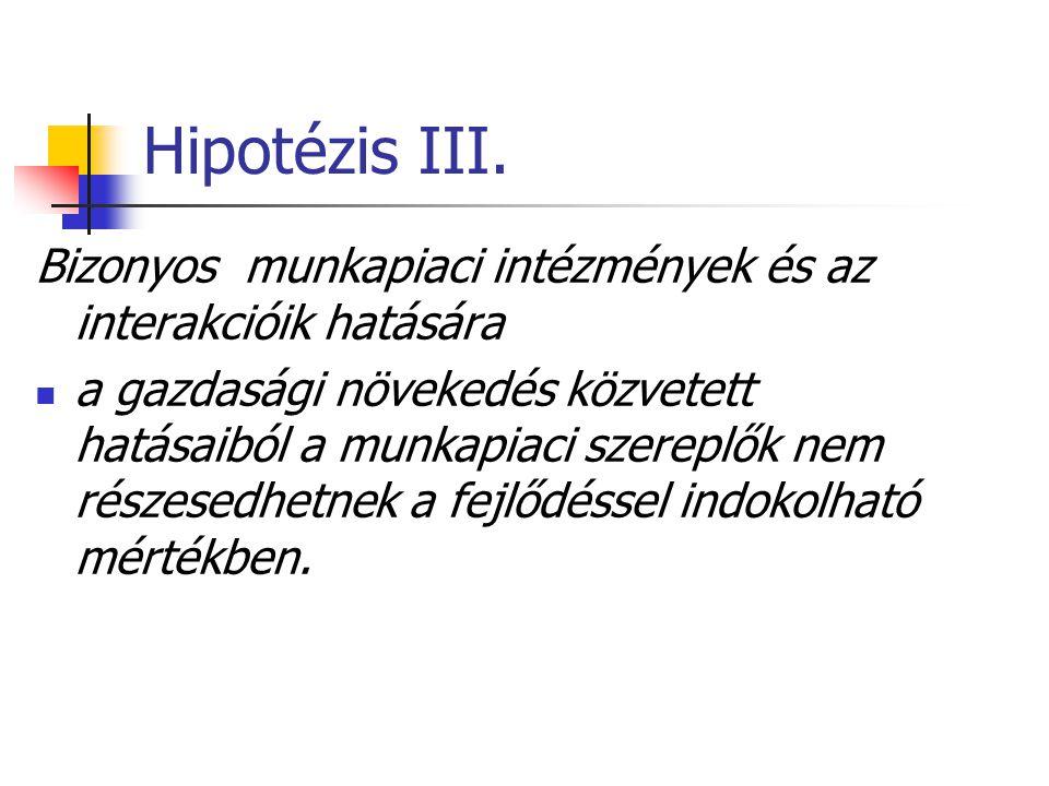 Hipotézis III.