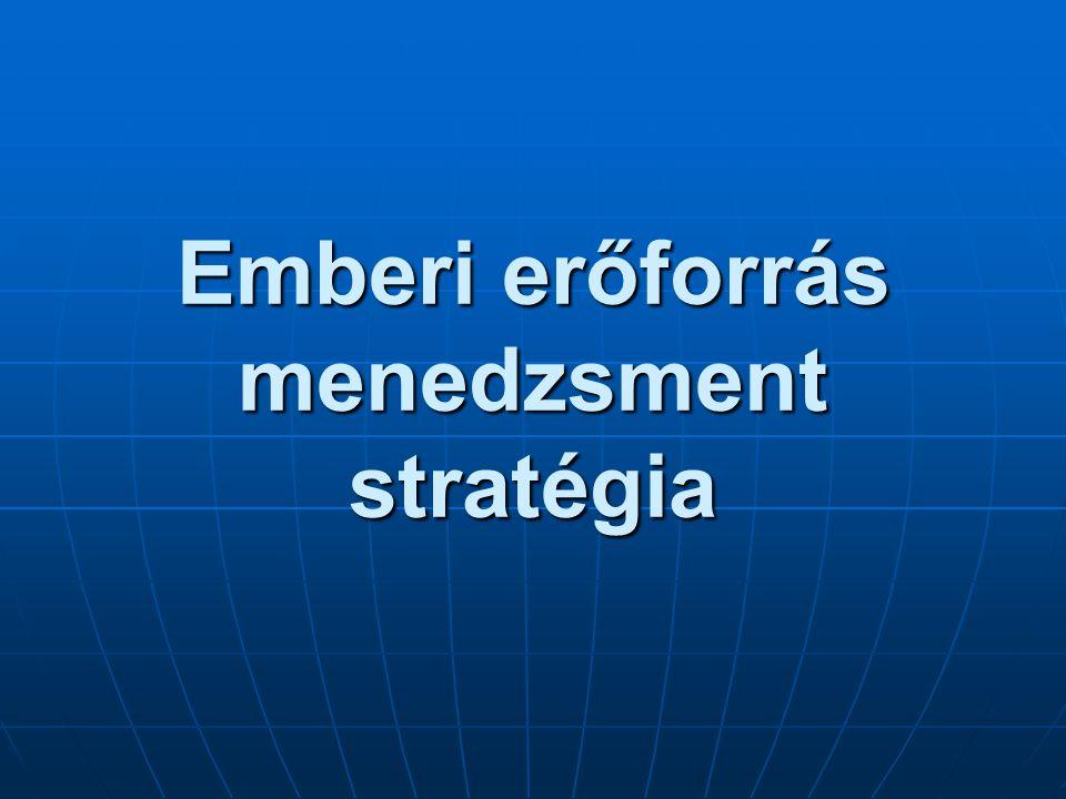Emberi erőforrás menedzsment stratégia