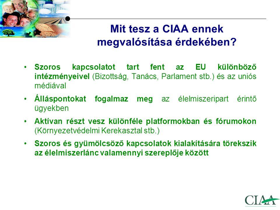 Mit tesz a CIAA ennek megvalósítása érdekében.
