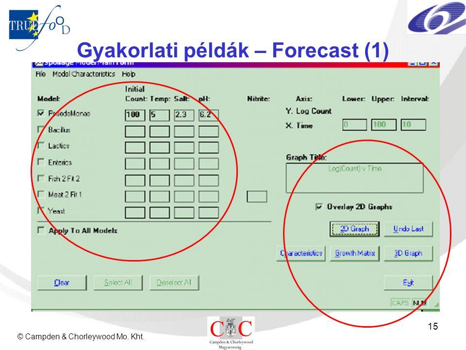 © Campden & Chorleywood Mo. Kht. 15 Gyakorlati példák – Forecast (1)