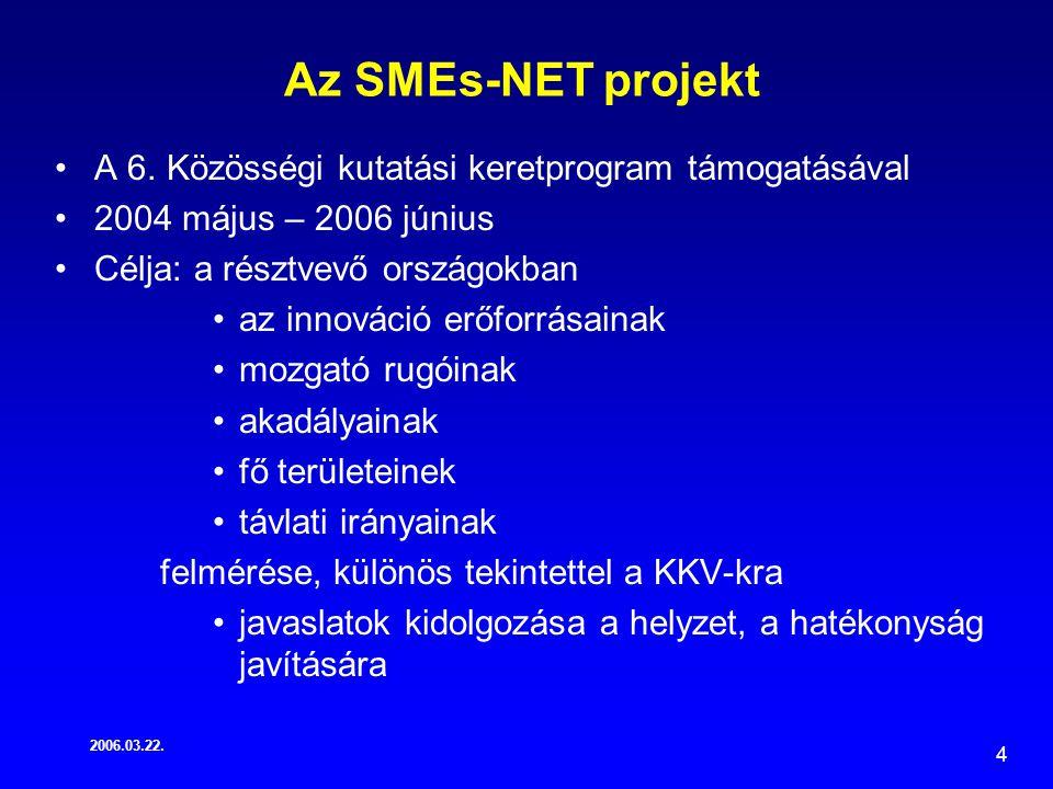 2006.03.22.4 Az SMEs-NET projekt A 6.