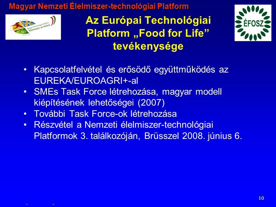 Magyar Nemzeti Élelmiszer-technológiai Platform 2006.02.22.
