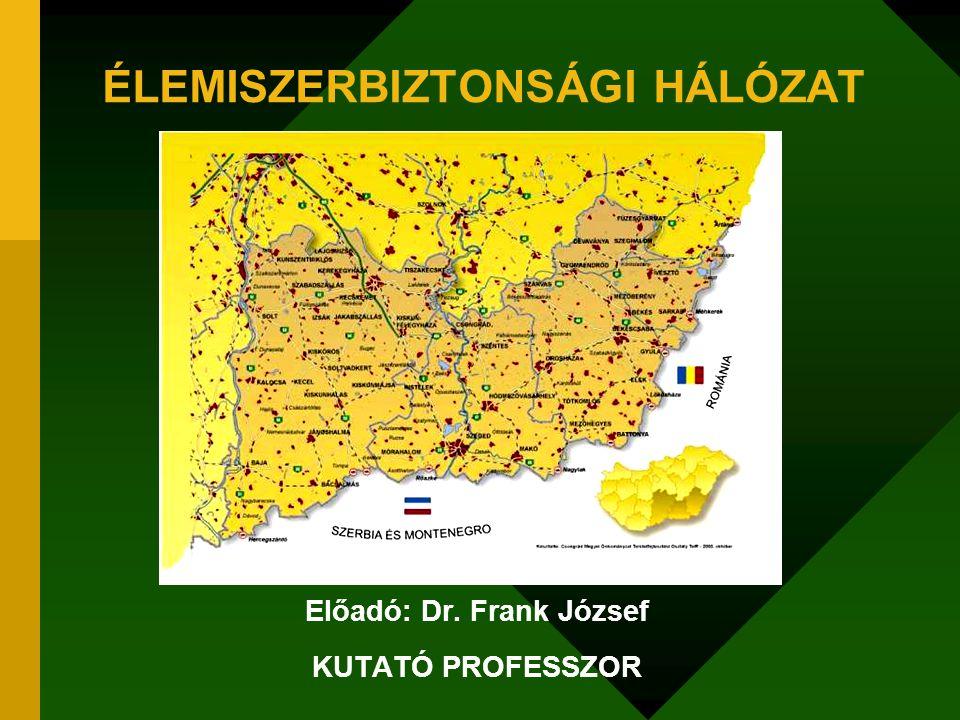 ÉLEMISZERBIZTONSÁGI HÁLÓZAT Előadó: Dr. Frank József KUTATÓ PROFESSZOR