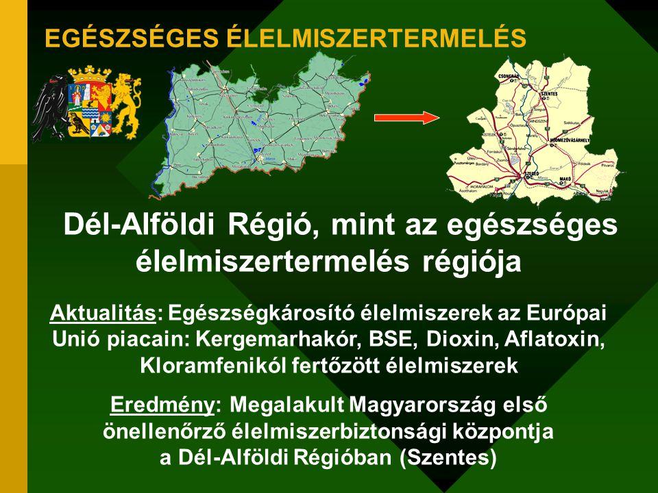 EGÉSZSÉGES ÉLELMISZERTERMELÉS Dél-Alföldi Régió, mint az egészséges élelmiszertermelés régiója Aktualitás: Egészségkárosító élelmiszerek az Európai Un