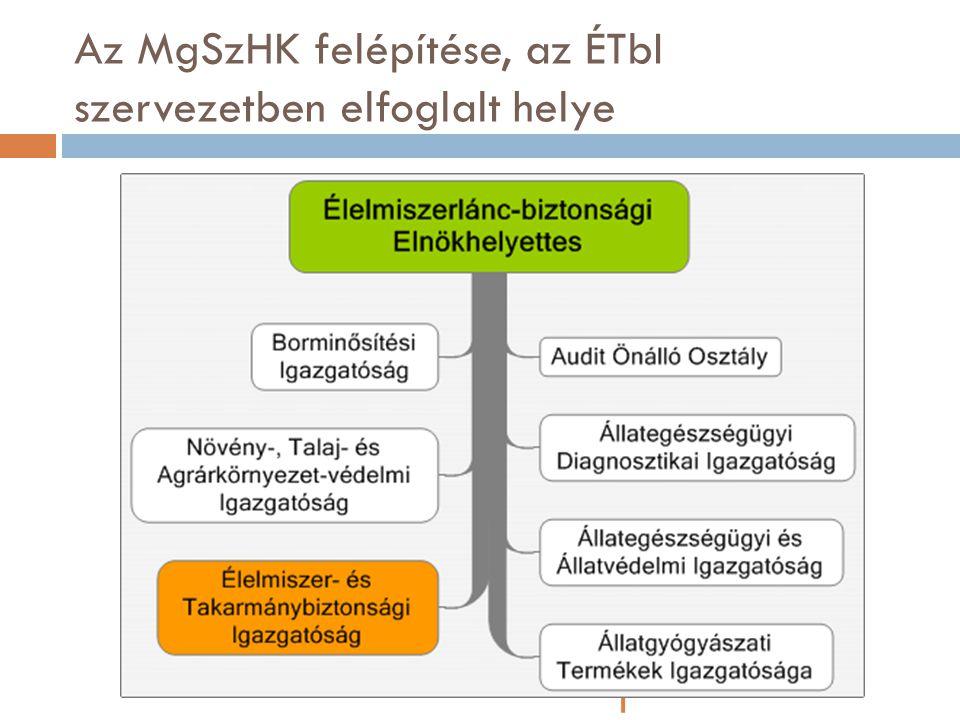 Az MgSzHK felépítése, az ÉTbI szervezetben elfoglalt helye