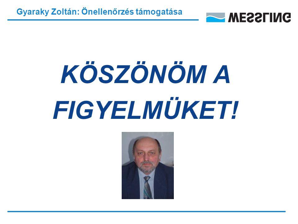 Gyaraky Zoltán: Önellenőrzés támogatása KÖSZÖNÖM A FIGYELMÜKET!