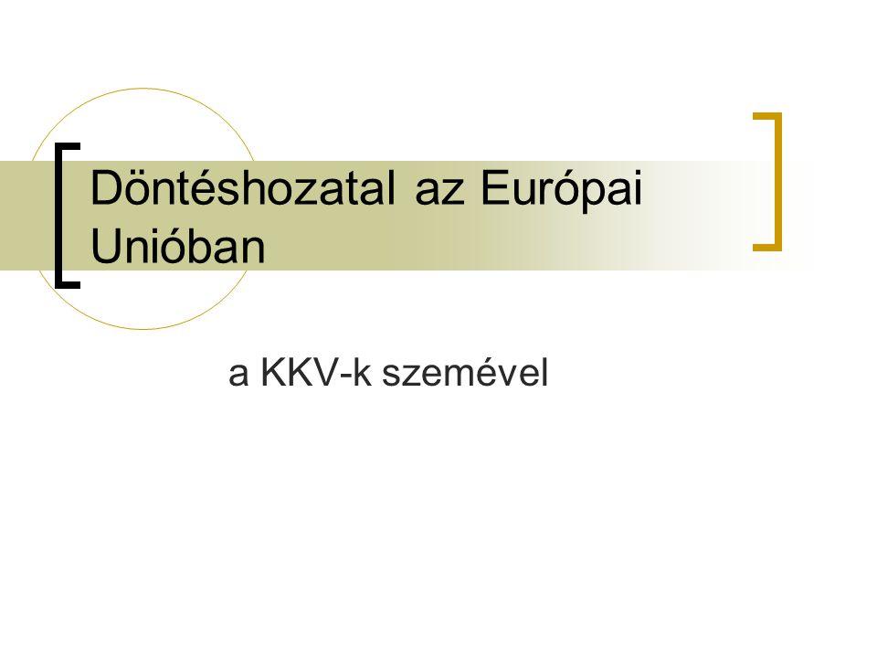 Döntéshozatal az Európai Unióban a KKV-k szemével