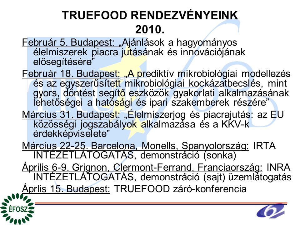 TRUEFOOD RENDEZVÉNYEINK 2010. Február 5.
