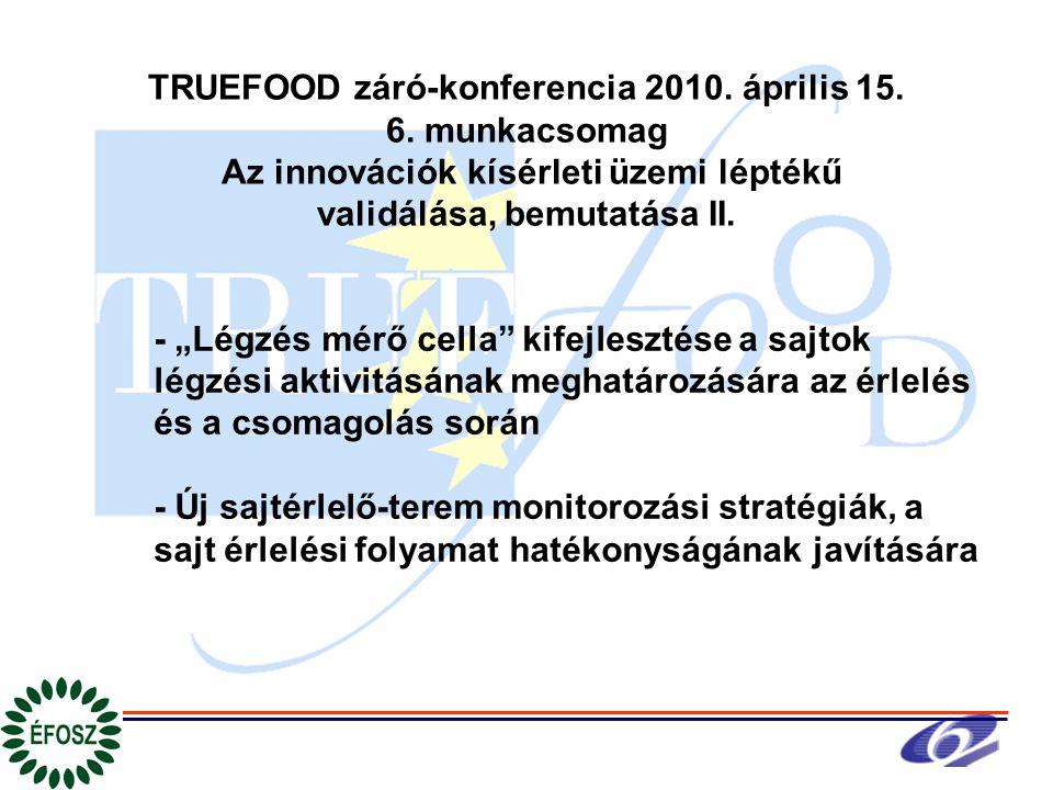 TRUEFOOD záró-konferencia 2010. április 15. 6.