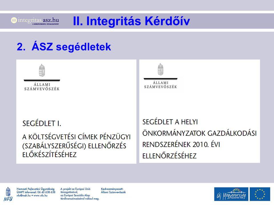 2. ÁSZ segédletek II. Integritás Kérdőív